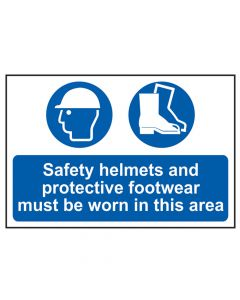 Scan Safety Helmets + Footwear To Be Worn PVC 400 x 600mm - SCA4001