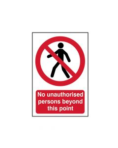 Scan No Unauthorised Persons Beyond This Point - PVC 400 x 600mm - SCA4053
