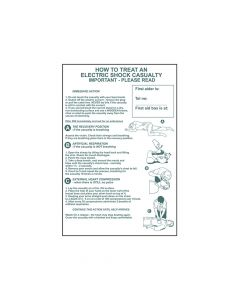 Scan How To Treat An Electric Shock Casualty - PVC 400 x 600mm - SCA4240