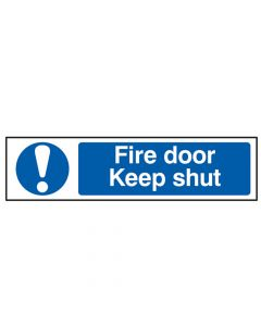Scan Fire Door Keep Shut - PVC 200 x 50mm - SCA5004