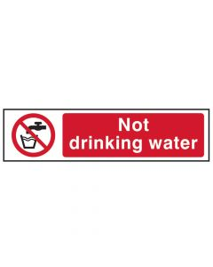 Scan Not Drinking Water - PVC 200 x 50mm - SCA5051