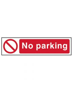 Scan No Parking - PVC 200 x 50mm - SCA5056