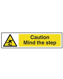 Scan Caution Mind The Step - PVC 200 x 50mm - SCA5109