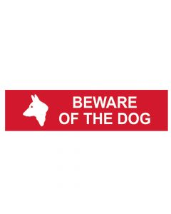 Scan Beware Of The Dog - PVC 200 x 50mm - SCA5251