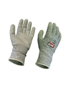 Scan Grey PU Coated, Cut 5 Liner Gloves - Large - SCAGLOCUT5