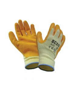 Scan Knit Shell Latex Palm Gloves - Large (Size 9) - SCAGLOKS