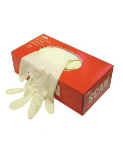 Scan Latex Gloves Box 100 - Large - SCAGLOLATEXL