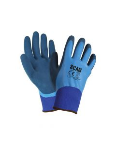 Scan Waterproof Latex Gloves - Large (Size 9) - SCAGLOLATWP