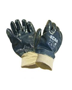 Scan Nitrile Knitwrist Heavy-Duty Gloves - SCAGLONIT
