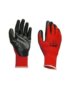 Scan Palm Dipped Black Nitrile Gloves - Extra Large - SCAGLONITBXL