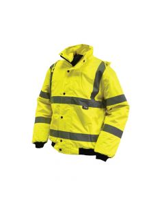 Scan Hi-Vis Bomber Jacket Yellow - L (44in) - SCAWWHVBJL