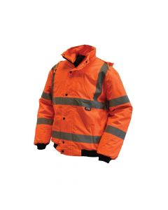Scan Hi-Vis Bomber Jacket Orange - L (44in) - SCAWWHVBJLO