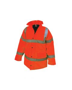 Scan Hi-Vis Motorway Jacket Orange - L (44in) - SCAWWHVMJLO