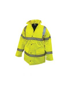 Scan Hi-Vis Motorway Jacket Yellow - L (44in) - SCAWWHVMJL