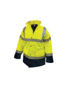 Scan Hi-Vis Motorway Jacket Yellow Black - L (44in) - SCAWWHVMJLYB