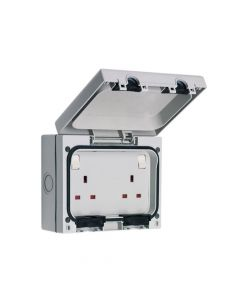 SMJ IP66 13A Socket 2 Gang - SMJE613DB
