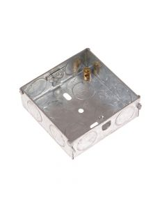 SMJ Metal Back Box 1 Gang 16mm Depth - Carded - SMJMBS16C