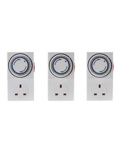 SMJ Basix 24h Mechanical Plug In Timer 3 Pack - SMJMPIT3C