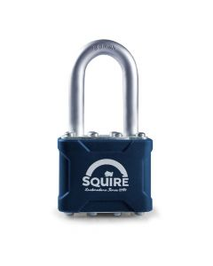 Squire 35/1.5 - Stronglock Pin Tumbler 40mm Laminated Double Locking Padlock - Long Shackle 1.5""