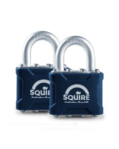 Squire 35T - Stronglock Pin Tumbler - Twin pack 2 x 40mm Laminated Double Locking Padlocks - Keyed Alike