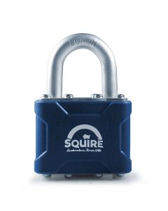 Squire 37KA - Stronglock 4 Pin Tumbler 45mm Laminated Double Locking Padlock - Open Shackle - Keyed Alike
