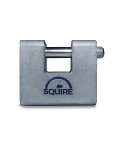Squire ASWL1KA - Warehouse Lock Range - Small 60mm Armoured Brass Block Padlock - Keyed Alike