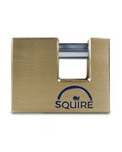 Squire ASWL2KA - Warehouse Lock Range - Large 80mm Armoured Brass Block Padlock - Keyed Alike