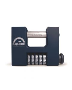 Squire CBW85 - SHCB High Security Recodable 85mm Block Combination Padlock - 5 wheel - Wide Clearance