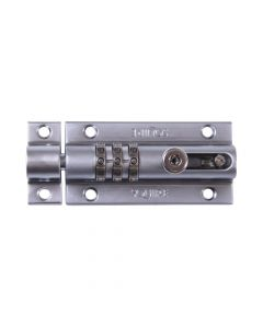 Squire COMBI3 CH - Combination Locking Bolt - Chrome Finish - 3 Wheel