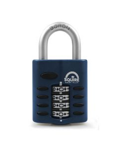 Squire CP40 - Weather Resistant 40mm Combination Padlock - 4 wheel - Open Shackle