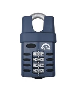 Squire CP50CS - Weather Resistant 50mm Combination Padlock - 4 wheel - Closed Shackle