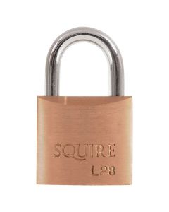 Squire LP8KA - Leopard Range - 30mm Solid Brass Padlock - Open Shackle - Keyed Alike
