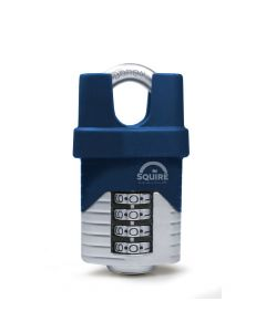 Squire VULCAN COMBI50CS 50mm Padlock - Closed Shackle - 4 Wheel