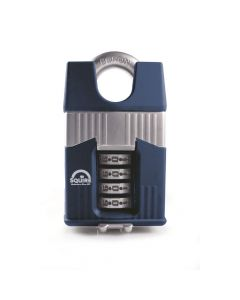 Squire Warrior 55mm Combination padlock - 4 Wheel - Closed Shackle