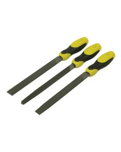 Stanley File Set 3 Piece Flat , 1/2 Round, 3 Square 200mm (8in) - STA022464