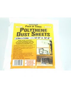 Stanley Polythene Dust Sheets 3.6 x 3.6m (3) - STA129285