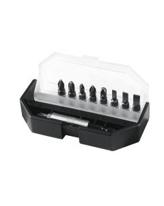 Stanley Insert Bit Set Slotted/ Phillips/ Pozidriv 10 Piece - STA168734