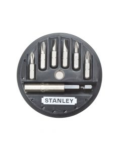 Stanley Insert Bit Set Phillips/Slotted/Pozidriv 7 Piece - STA168737