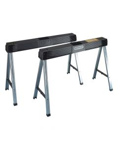 Stanley Folding Metal Leg Sawhorse (Twin Pack) - STA197475
