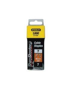 Stanley Cable Staples Type 7 CT100 11mm CT107T Pack 1000 - STA1CT107T