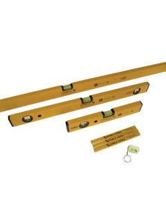 Stabila Double Plumb Spirit Level Pack 30cm, 60cm & 180cm - STB702COMBI