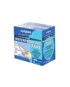 Sylglas Aluminium Finish Waterproofing Tape 100mm/4in 4m Roll - SYLAT100