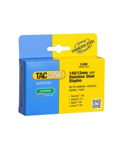 Tacwise Type 140 - 12mm Stainless Steel Staples (2,000 Pack) - 1220