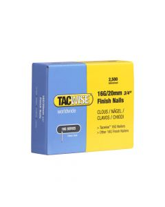 Tacwise Type 16G - 20mm Finish Nails (2,500 Pack) - 0665