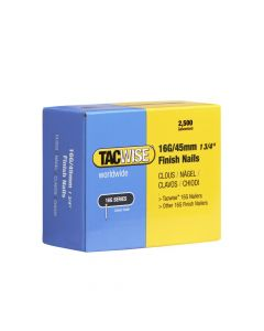 Tacwise Type 16G - 45mm Finish Nails (2,500 Pack) - 0297