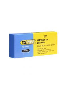 Tacwise Type 18G - 15mm Brad Nails (5,000 Pack) - 0394