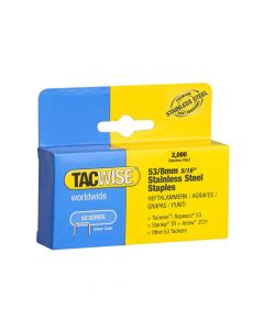 Tacwise Type 53 - 8mm Stainless Steel Staples (2,000 pack) - 1269