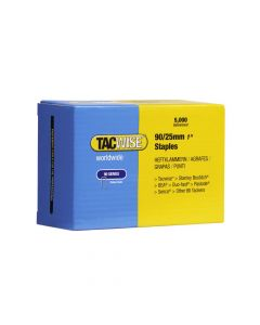 Tacwise Type 90 - 25mm Narrow Crown Staples (5,000 Pack) - 0308