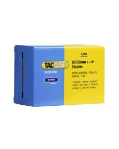 Tacwise Type 90 - 30mm Narrow Crown Staples (5,000 Pack) - 0309