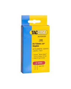 Tacwise Type 91 - 15mm Staples (1,000 Pack) - 0283